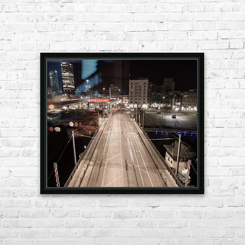 Milwaukee Bridge of The Past HD Sublimation Metal print with Decorating Float Frame (BOX)