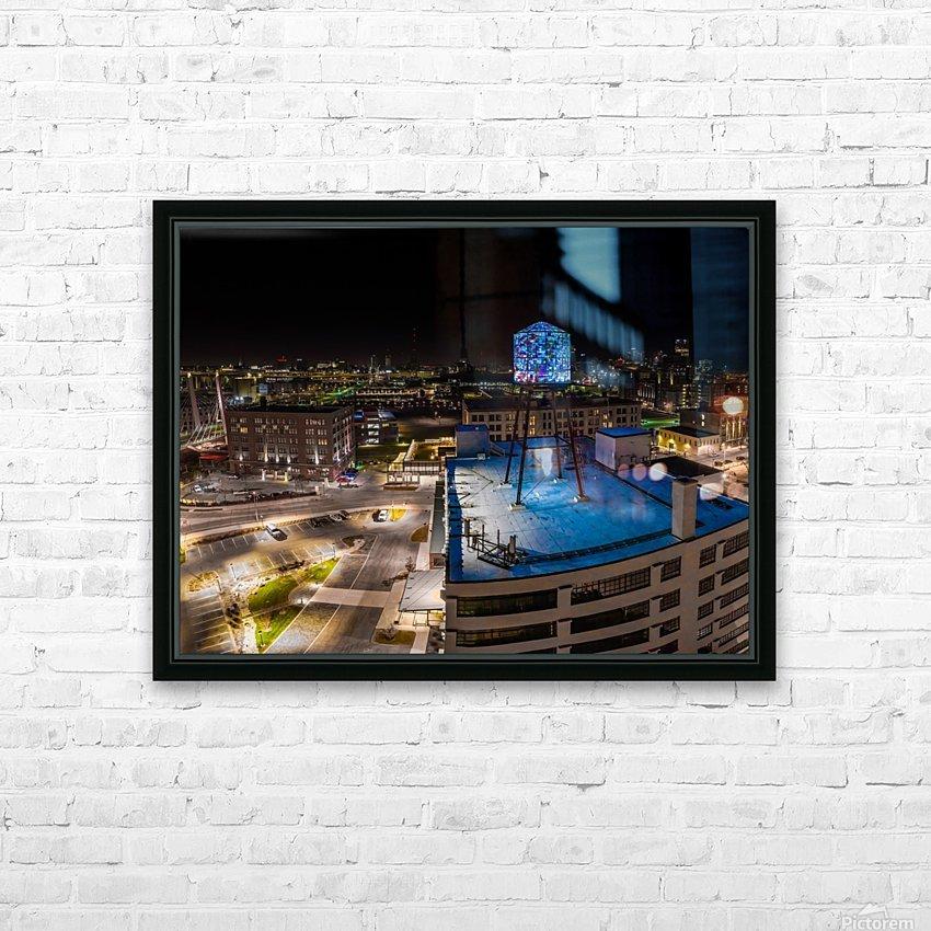 Milwaukee Blue HD sublimation métal imprimé avec décoration flotteur cadre (boîte)