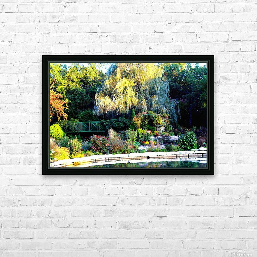 Reflections of a Monet Garden HD Sublimation Metal print with Decorating Float Frame (BOX)