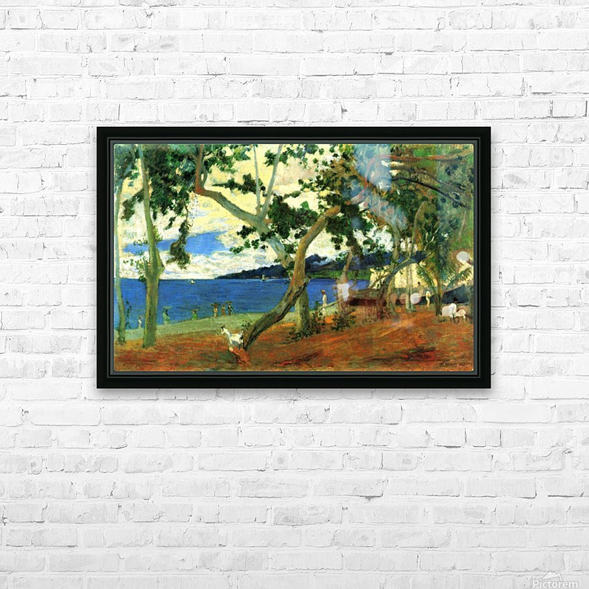 Beach Scene 2 by Gauguin HD Sublimation Metal print with Decorating Float Frame (BOX)