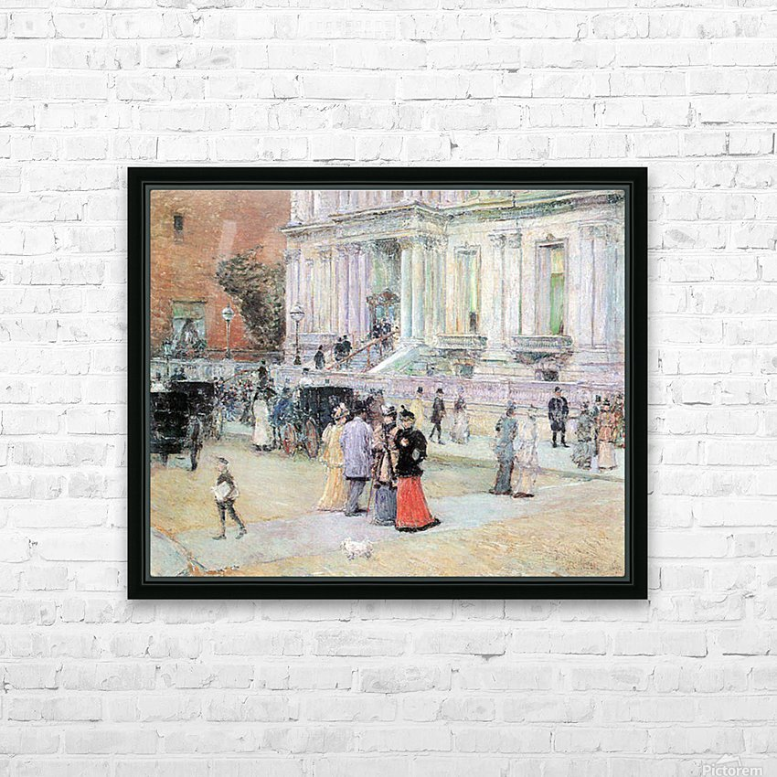 The Manhattan Club (The Villa of the Stewarts) by Hassam HD Sublimation Metal print with Decorating Float Frame (BOX)