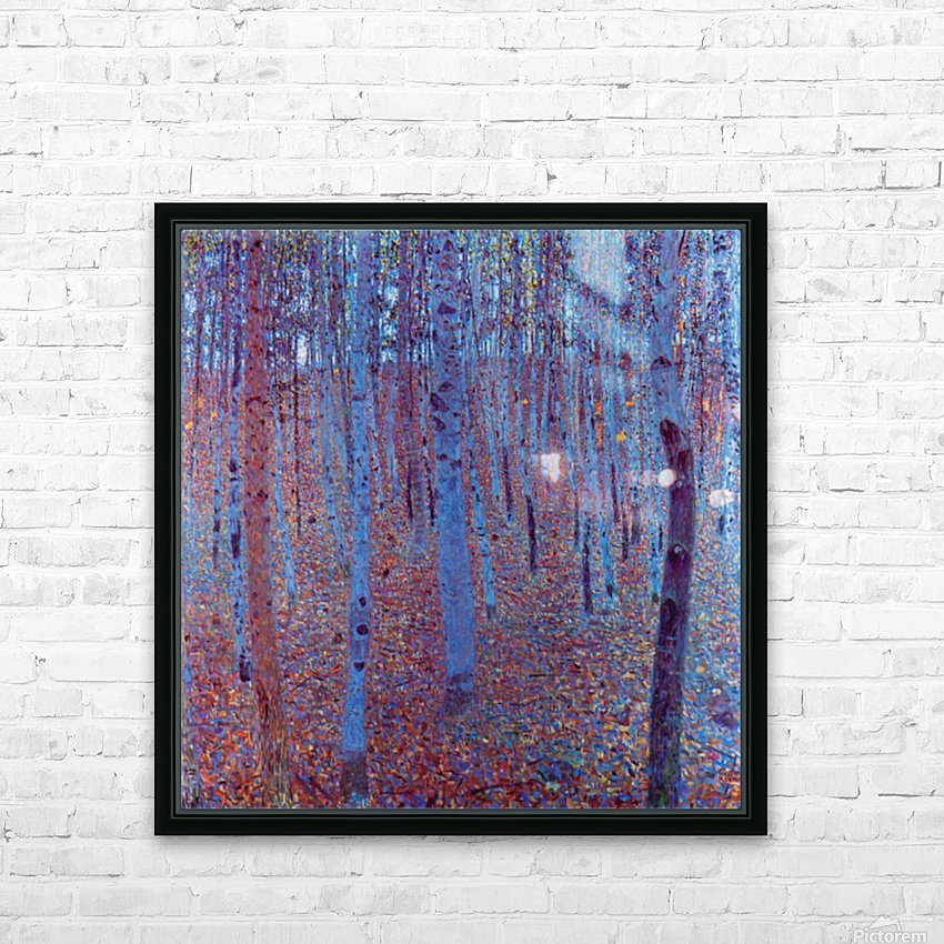 Beech Forest by Klimt HD Sublimation Metal print with Decorating Float Frame (BOX)