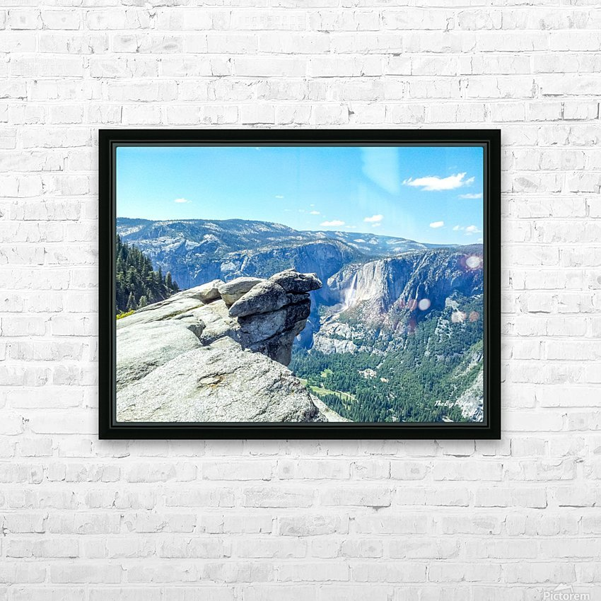 Glacier Point Yosemite Falls HD Sublimation Metal print with Decorating Float Frame (BOX)