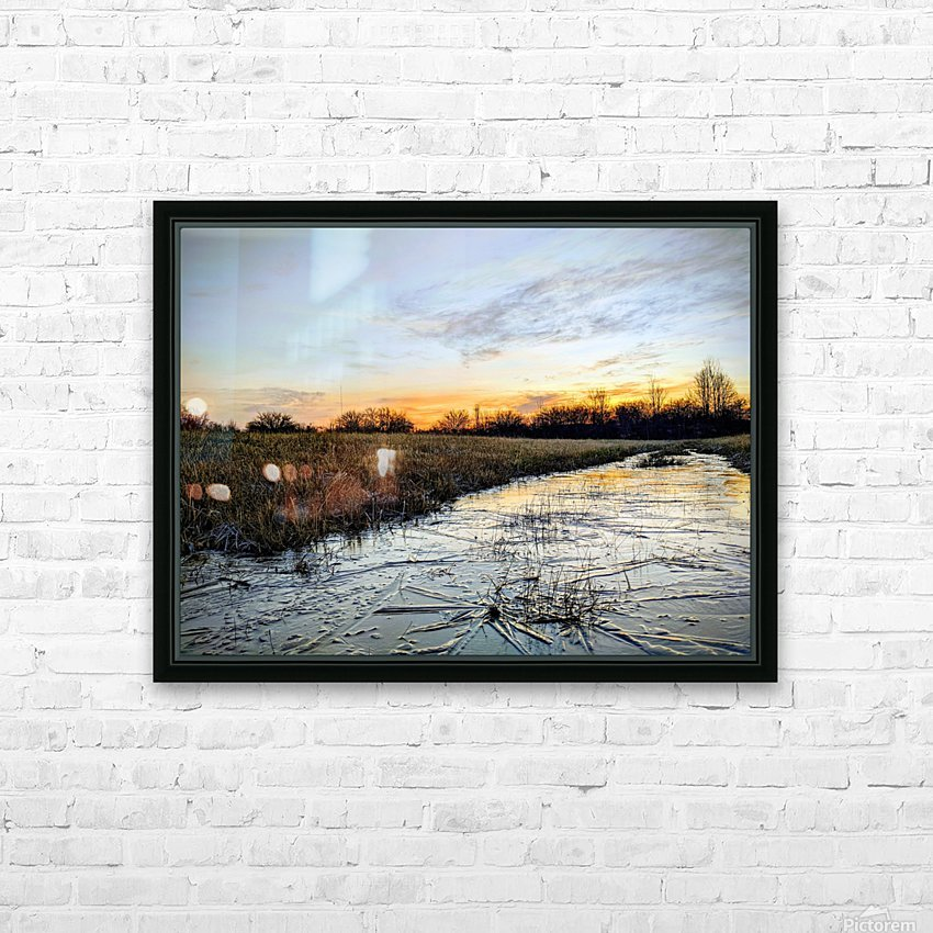 Frosted Ice at Dawn HD Sublimation Metal print with Decorating Float Frame (BOX)