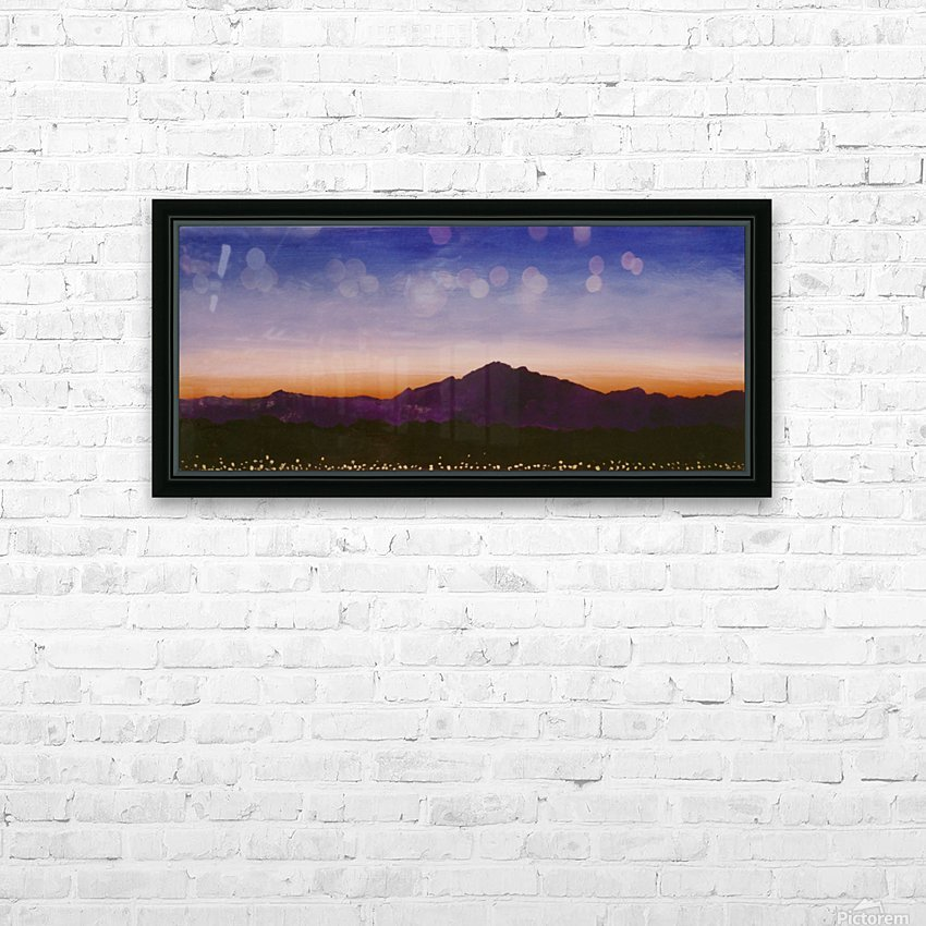 Ridgecrest HD Sublimation Metal print with Decorating Float Frame (BOX)