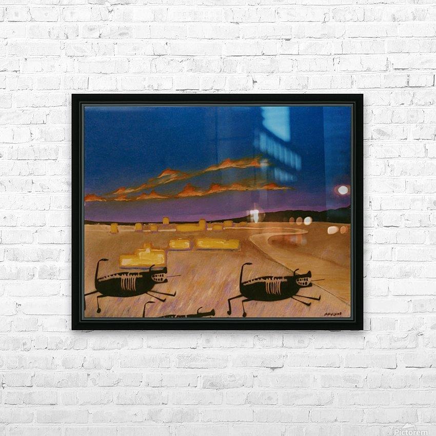 Ridgecrest Dog HD Sublimation Metal print with Decorating Float Frame (BOX)