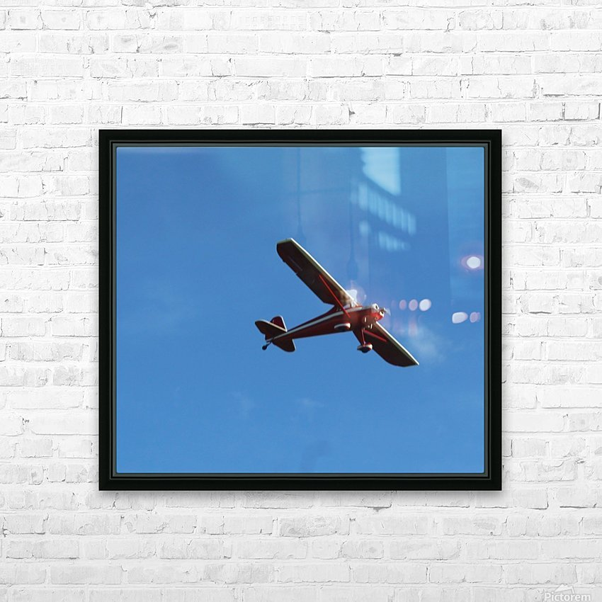 Flyover the  Prairie HD Sublimation Metal print with Decorating Float Frame (BOX)