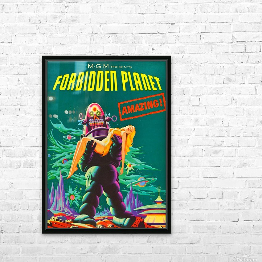 Forbidden Planet - Space Travel HD Sublimation Metal print with Decorating Float Frame (BOX)