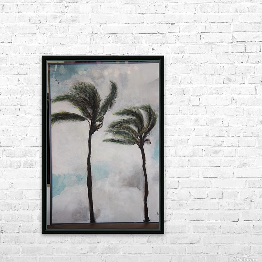 Palms HD Sublimation Metal print with Decorating Float Frame (BOX)
