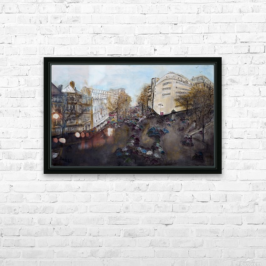 Buildings_High_Res HD Sublimation Metal print with Decorating Float Frame (BOX)