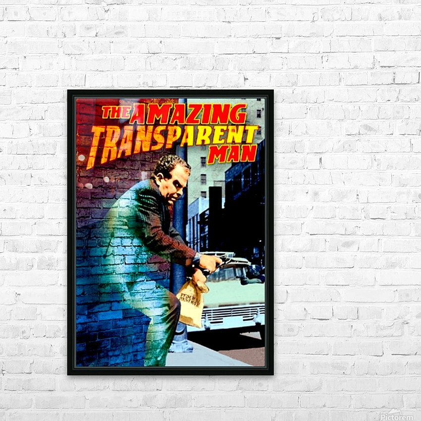 The Amazing Transparent Man 1960 Poster 1 HD Sublimation Metal print with Decorating Float Frame (BOX)