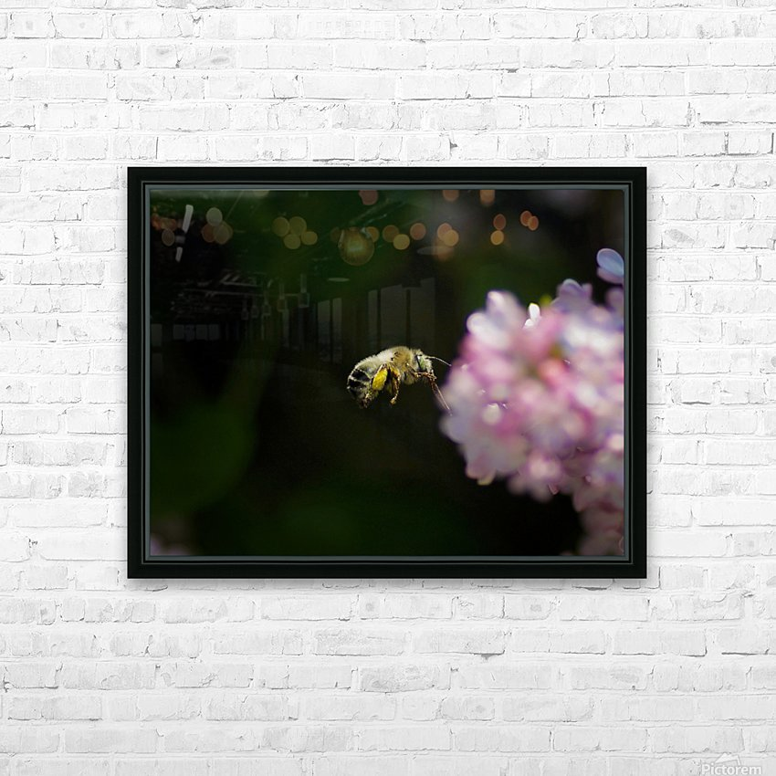 Bee Happy HD Sublimation Metal print with Decorating Float Frame (BOX)