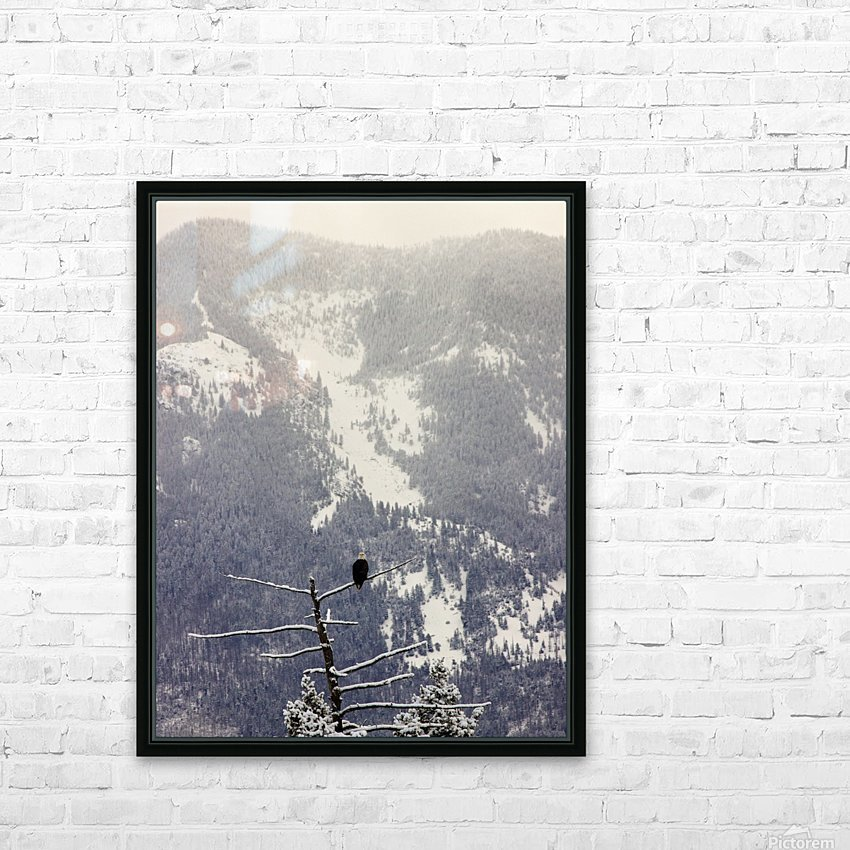 Snowy HD Sublimation Metal print with Decorating Float Frame (BOX)