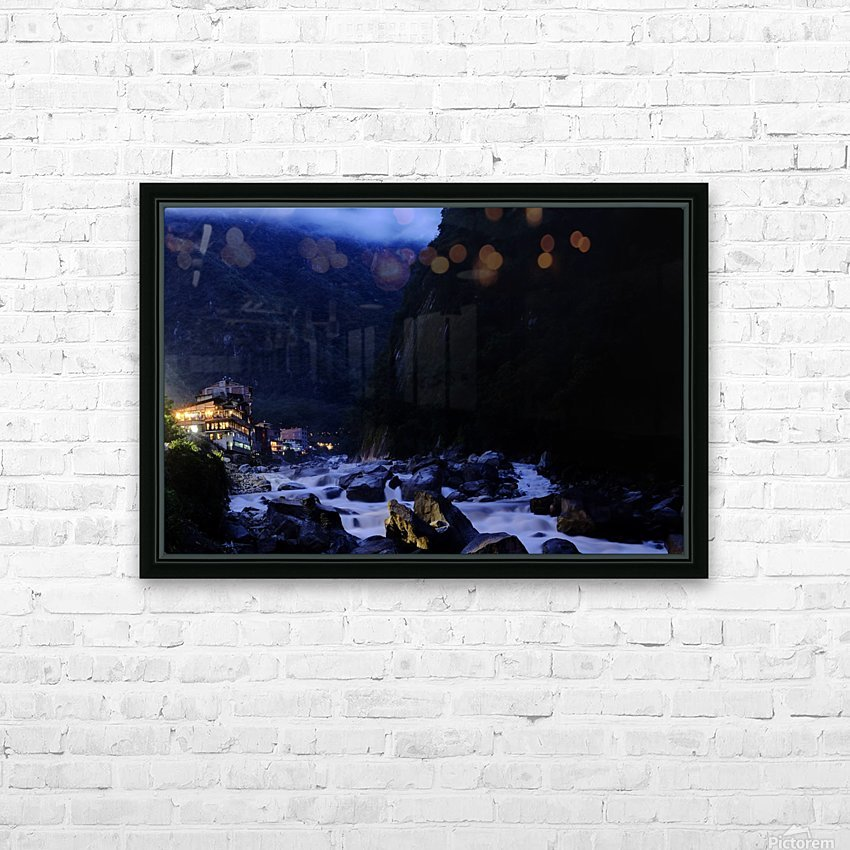 Machu Picchu Pueblo HD sublimation métal imprimé avec décoration flotteur cadre (boîte)