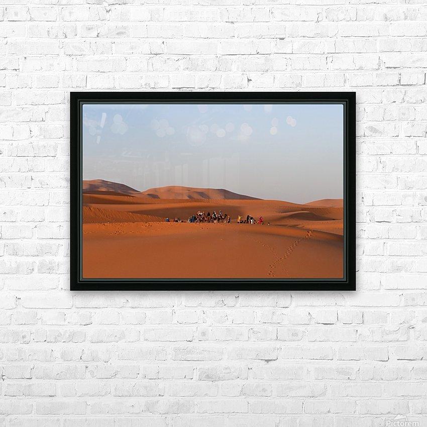 Merzouga sunrise HD sublimation métal imprimé avec décoration flotteur cadre (boîte)