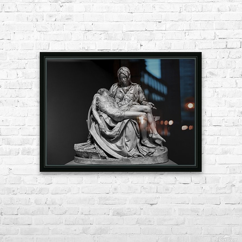 Pieta by Michelangelo HD Sublimation Metal print with Decorating Float Frame (BOX)