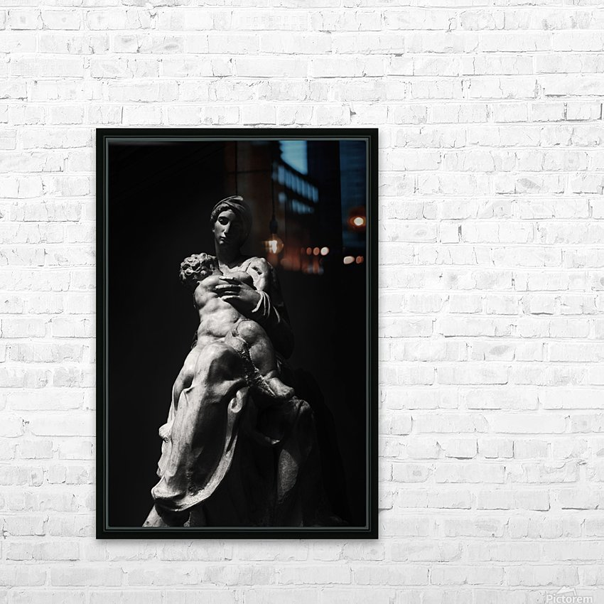Virgin and Child HD Sublimation Metal print with Decorating Float Frame (BOX)