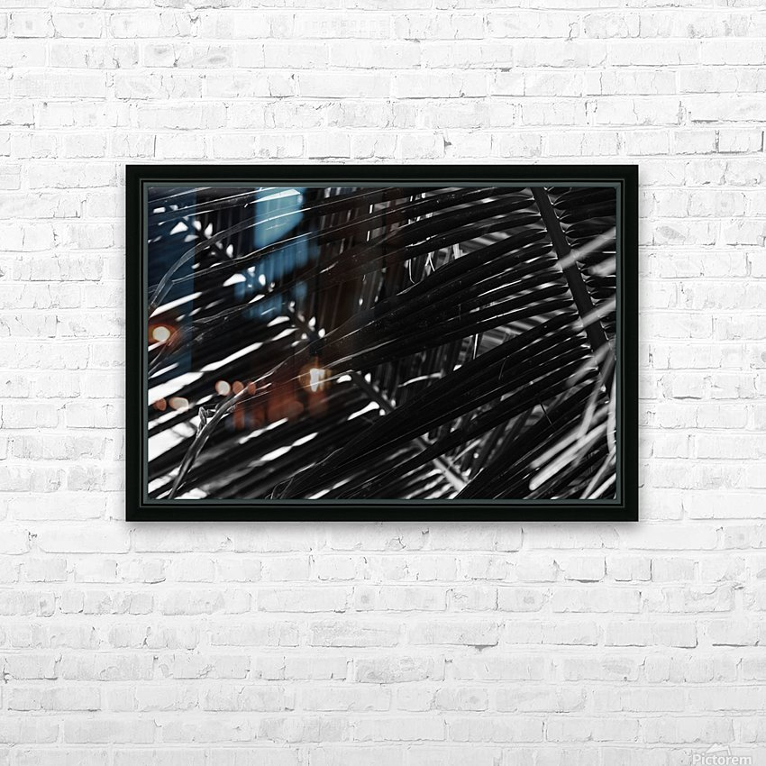 Dark Lines HD Sublimation Metal print with Decorating Float Frame (BOX)