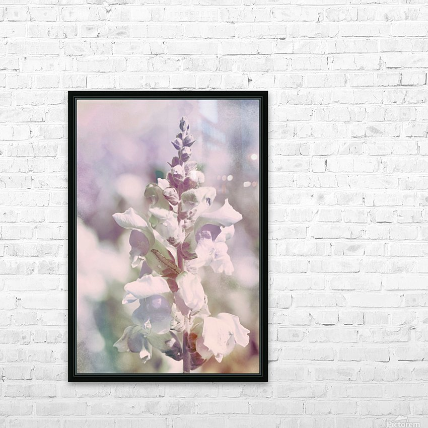 Soft Vintage Lupine HD Sublimation Metal print with Decorating Float Frame (BOX)