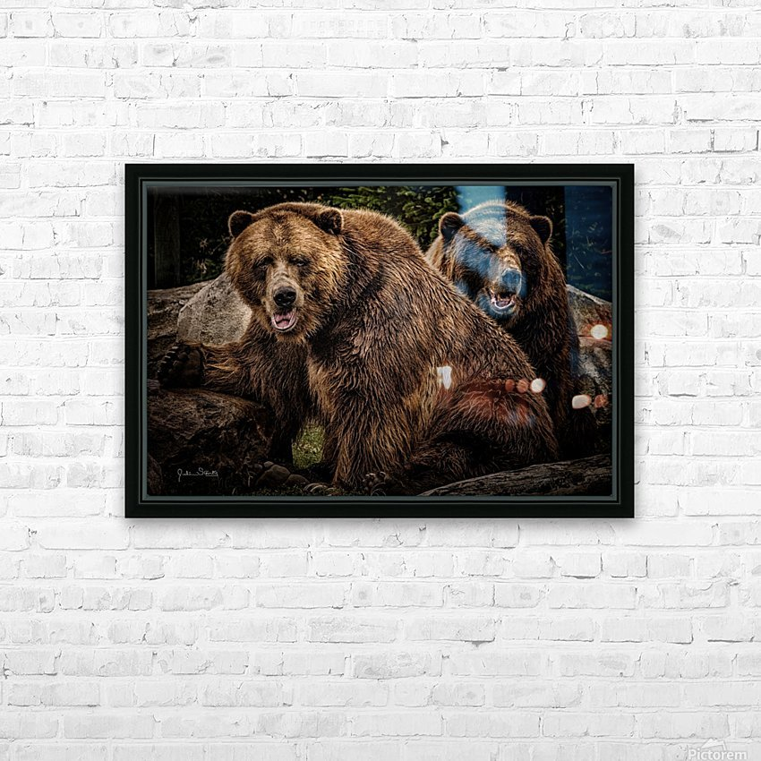 Brown Bear Brothers HD Sublimation Metal print with Decorating Float Frame (BOX)