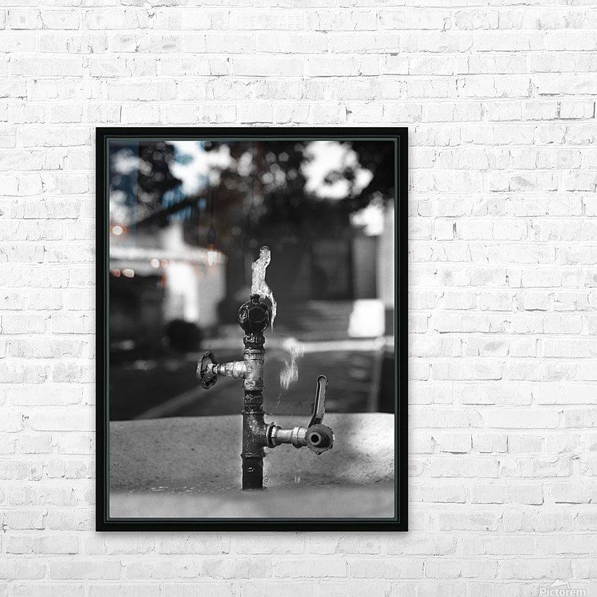 City Park Faucet HD Sublimation Metal print with Decorating Float Frame (BOX)
