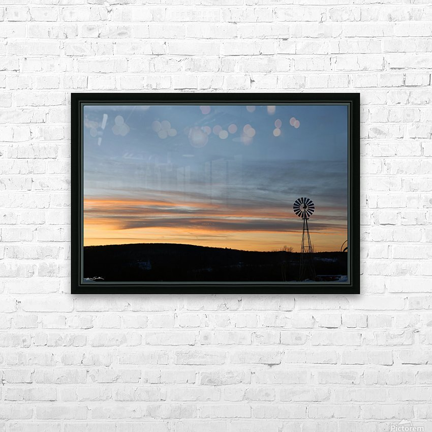 Windmill  HD Sublimation Metal print with Decorating Float Frame (BOX)