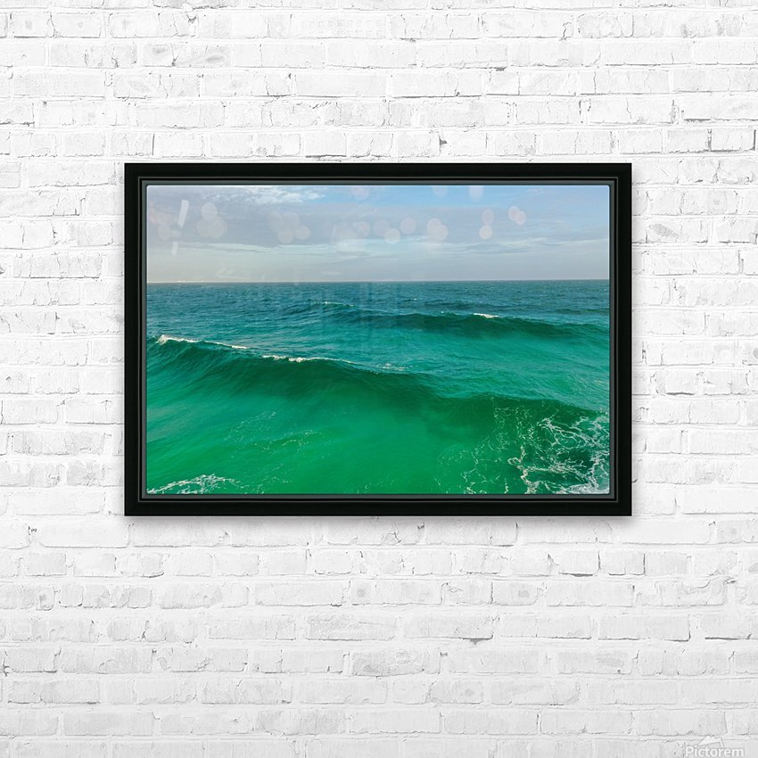 Big Wave HD Sublimation Metal print with Decorating Float Frame (BOX)