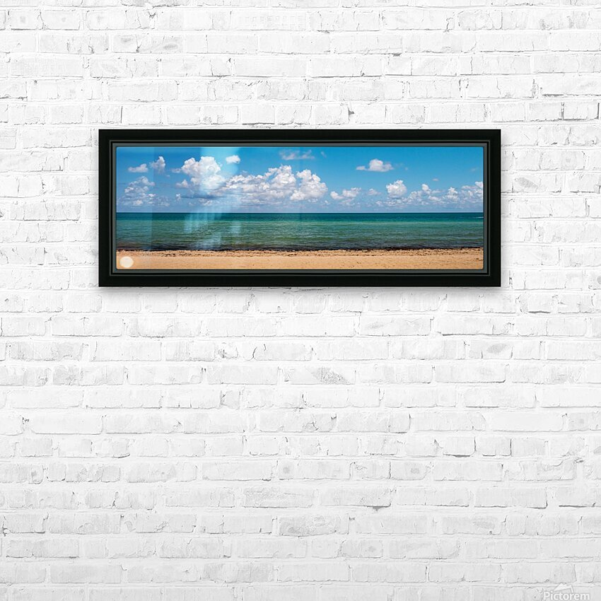 N. Miami Beach Stripes HD Sublimation Metal print with Decorating Float Frame (BOX)