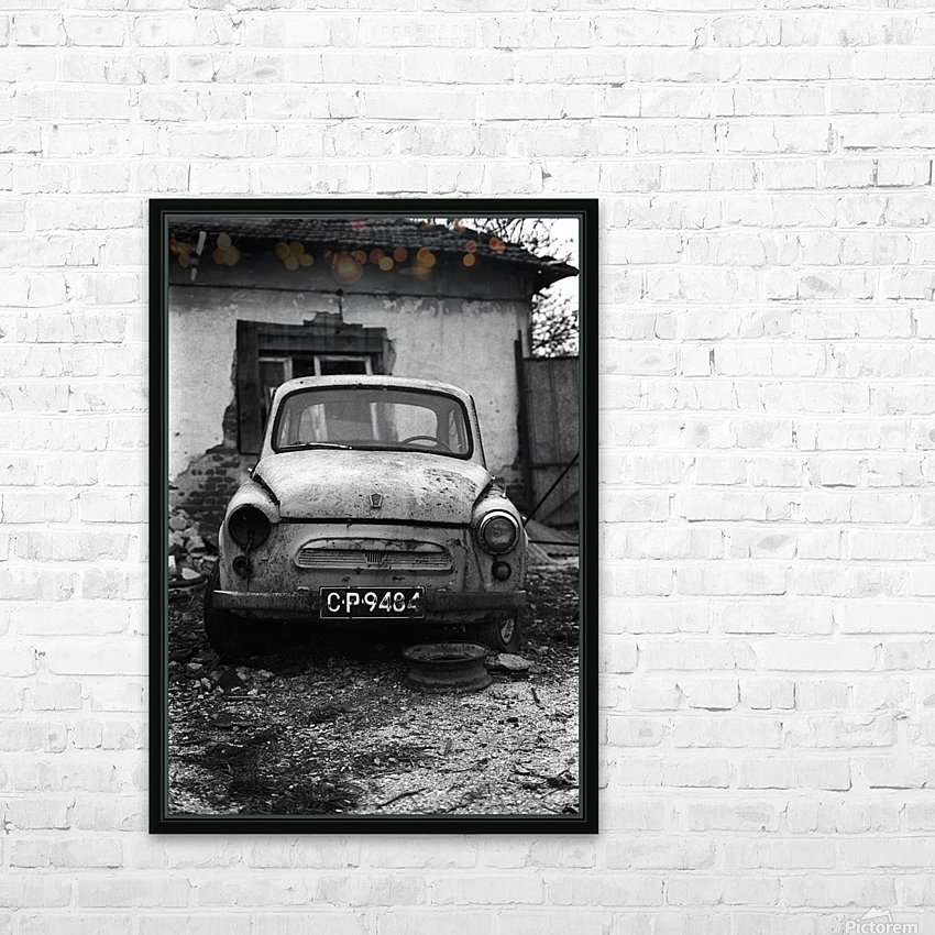 Abandoned ZAZ 965  USSRs replica of FIAT 600 HD Sublimation Metal print with Decorating Float Frame (BOX)