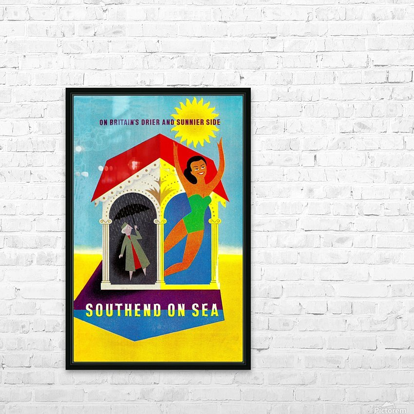 Vintage Travel - Southend on Sea HD Sublimation Metal print with Decorating Float Frame (BOX)