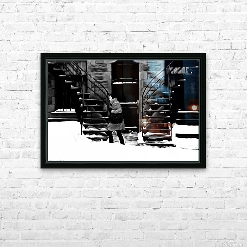 Trudging Through the Snow HD Sublimation Metal print with Decorating Float Frame (BOX)