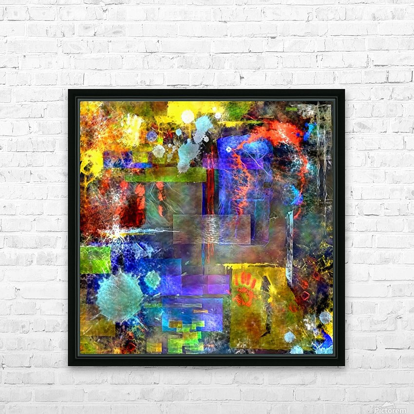 Modern Trendy Abstract Art HD Sublimation Metal print with Decorating Float Frame (BOX)