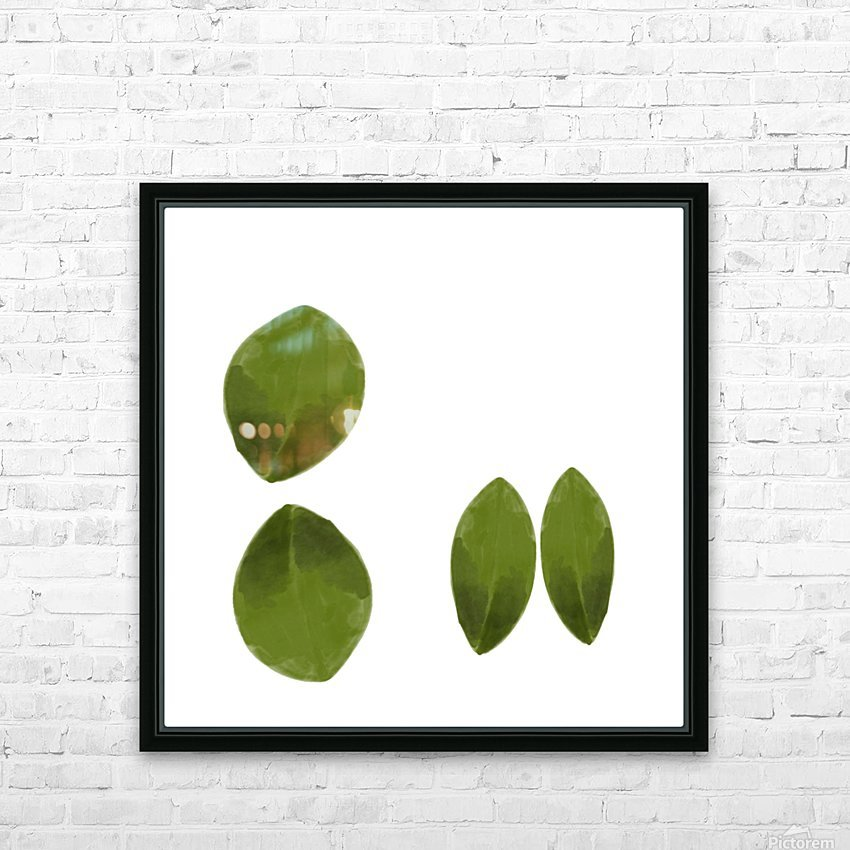 4 Leaves HD Sublimation Metal print with Decorating Float Frame (BOX)