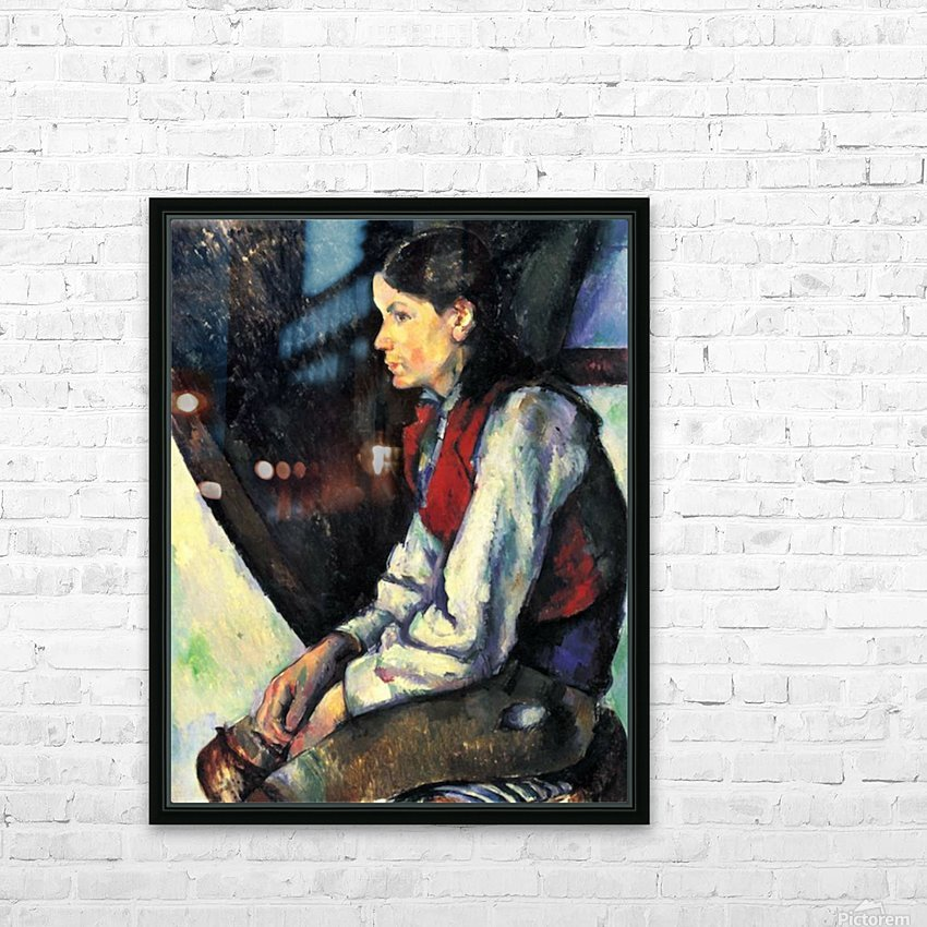 Boy with Red Vest by Cezanne HD Sublimation Metal print with Decorating Float Frame (BOX)