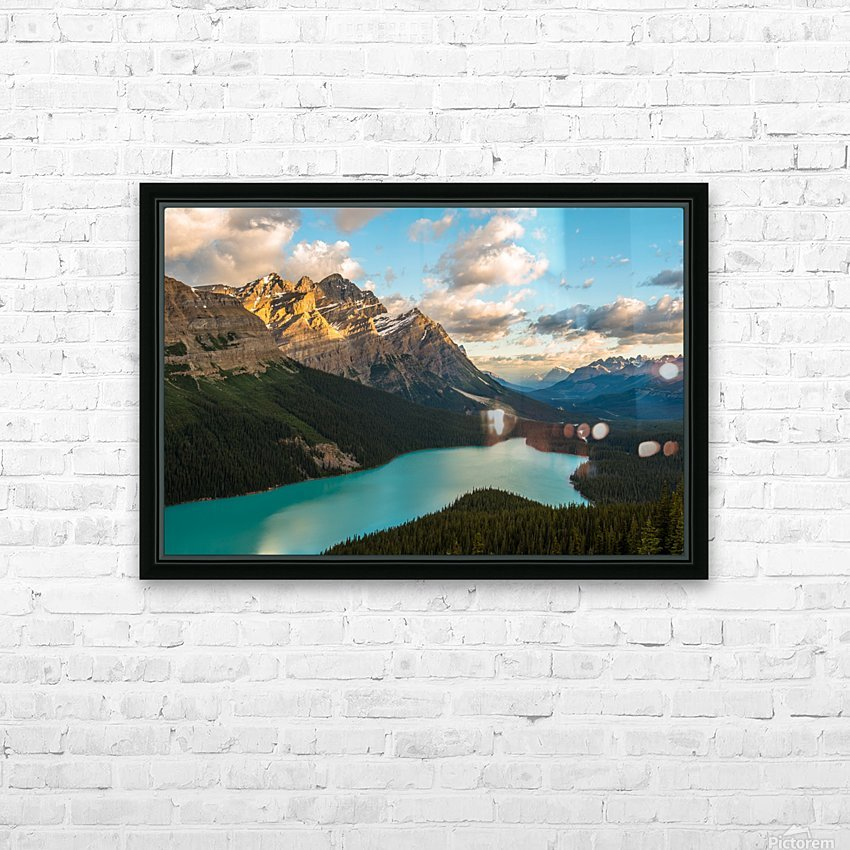 Peyto Lake 2 HD Sublimation Metal print with Decorating Float Frame (BOX)