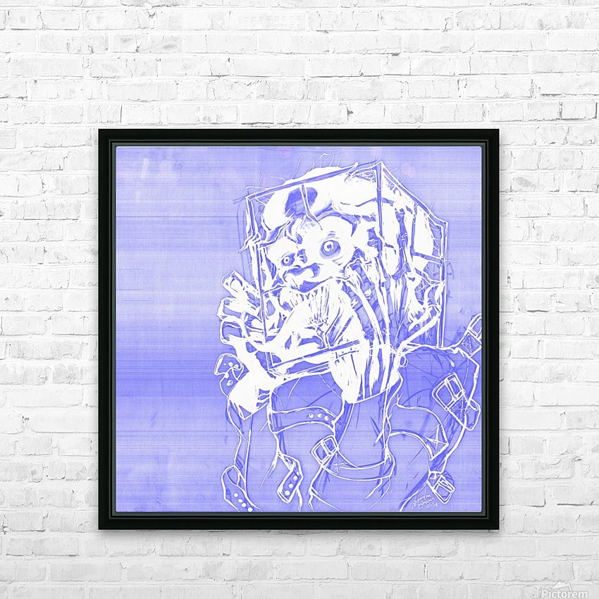 Jacle blue print HD Sublimation Metal print with Decorating Float Frame (BOX)