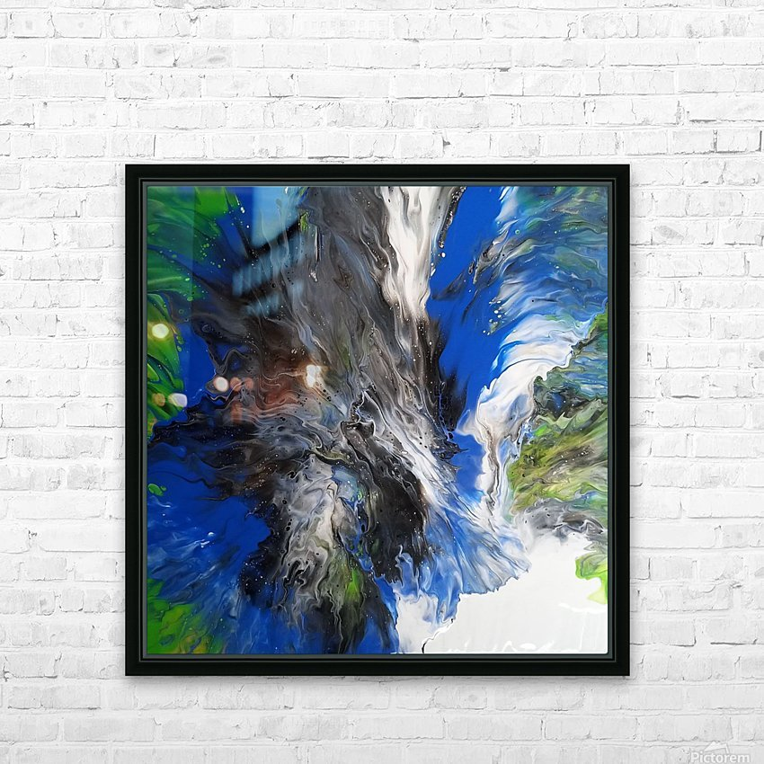Waterfall HD Sublimation Metal print with Decorating Float Frame (BOX)