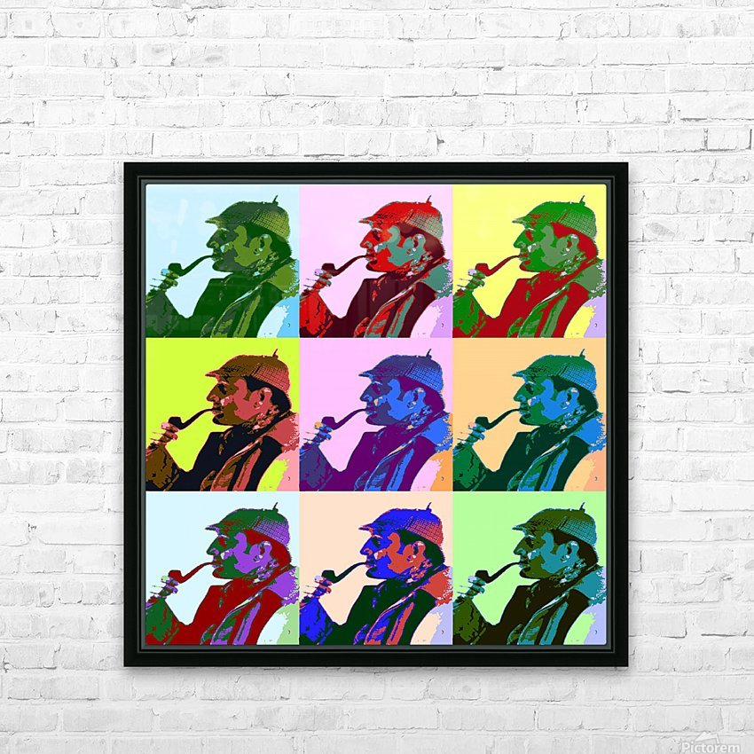 sherlock Holmes Pop Art HD Sublimation Metal print with Decorating Float Frame (BOX)