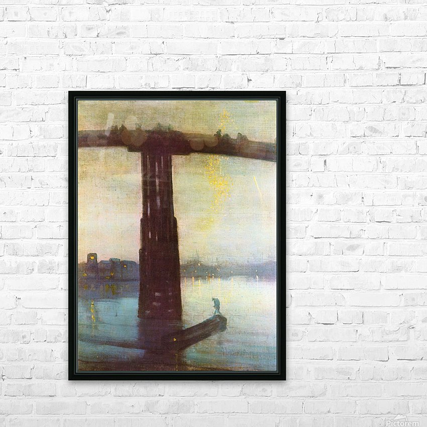 The old Battersea Bridge by James Abbot McNeill Whistler HD Sublimation Metal print with Decorating Float Frame (BOX)
