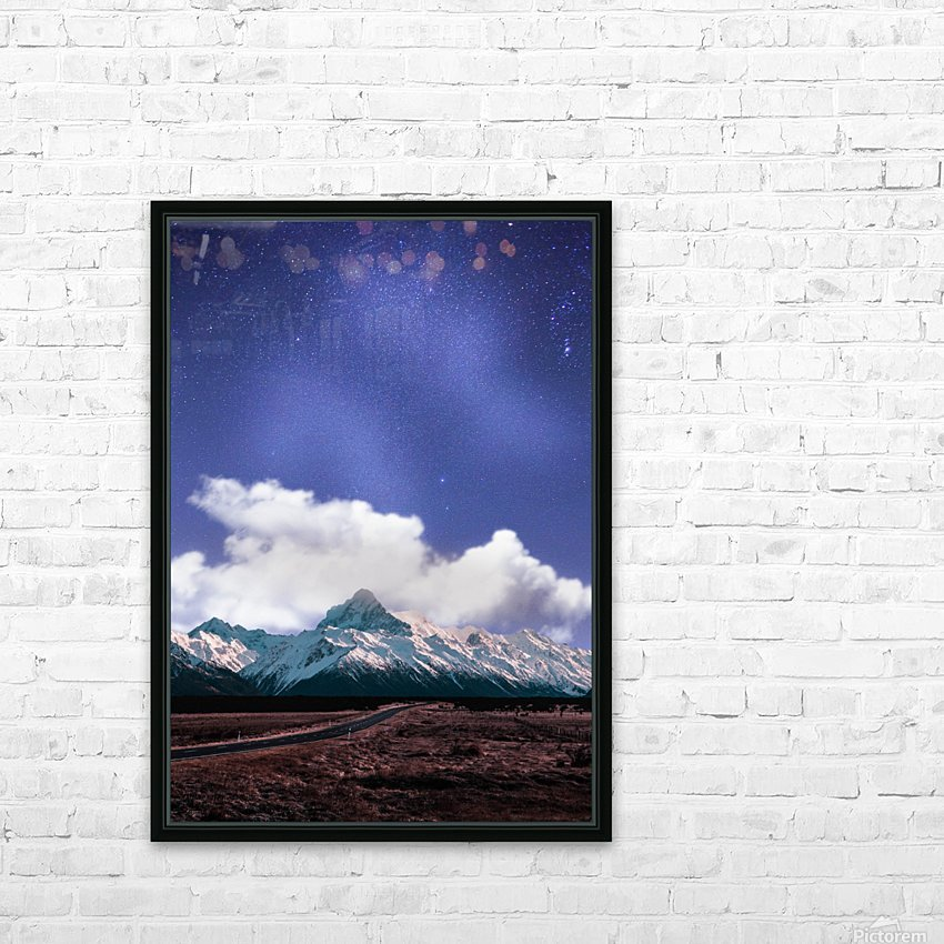 Blue Sky Over The Mountain HD Sublimation Metal print with Decorating Float Frame (BOX)