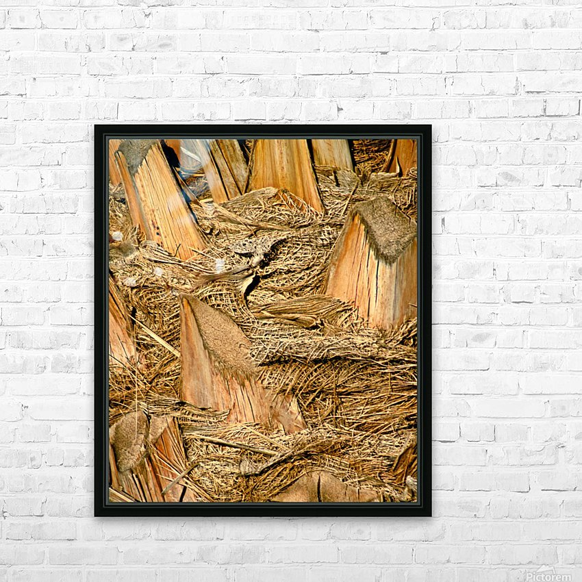 Jagged Gold HD Sublimation Metal print with Decorating Float Frame (BOX)