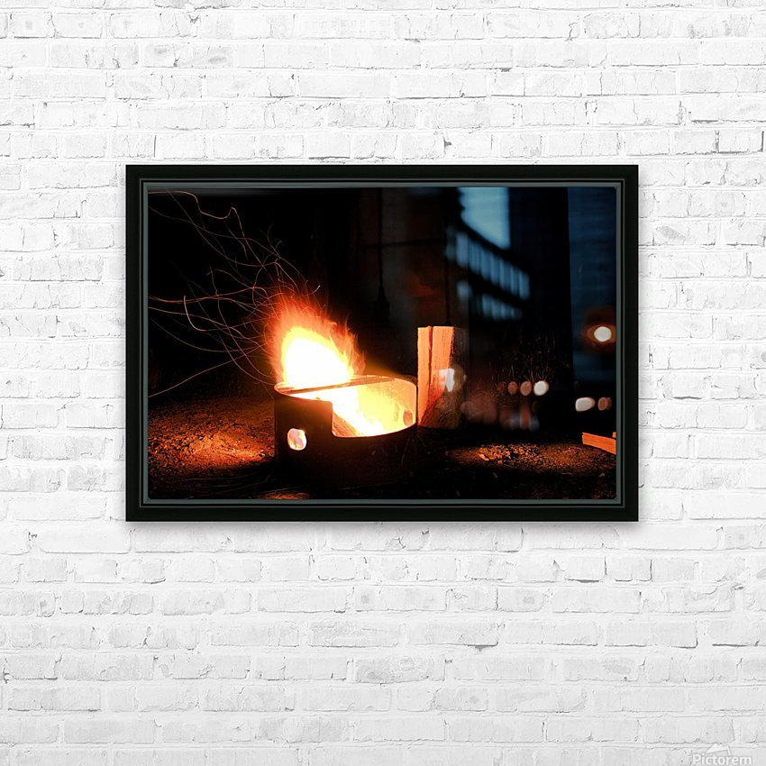 Ask the Campfire HD Sublimation Metal print with Decorating Float Frame (BOX)