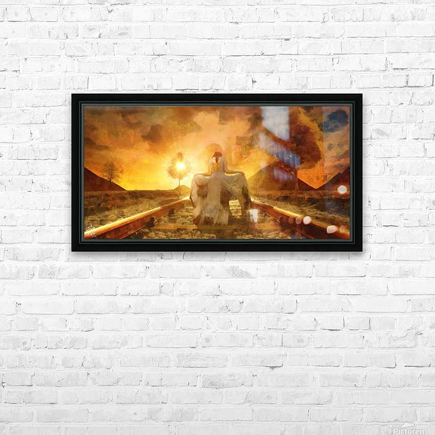 The Way Home HD Sublimation Metal print with Decorating Float Frame (BOX)