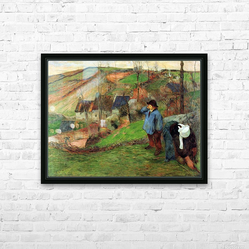 Breton Shepherd by Gauguin HD Sublimation Metal print with Decorating Float Frame (BOX)