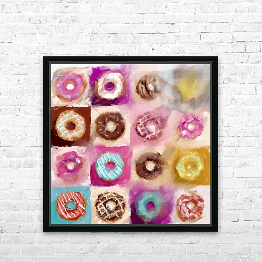 Donut Series No 1 HD Sublimation Metal print with Decorating Float Frame (BOX)