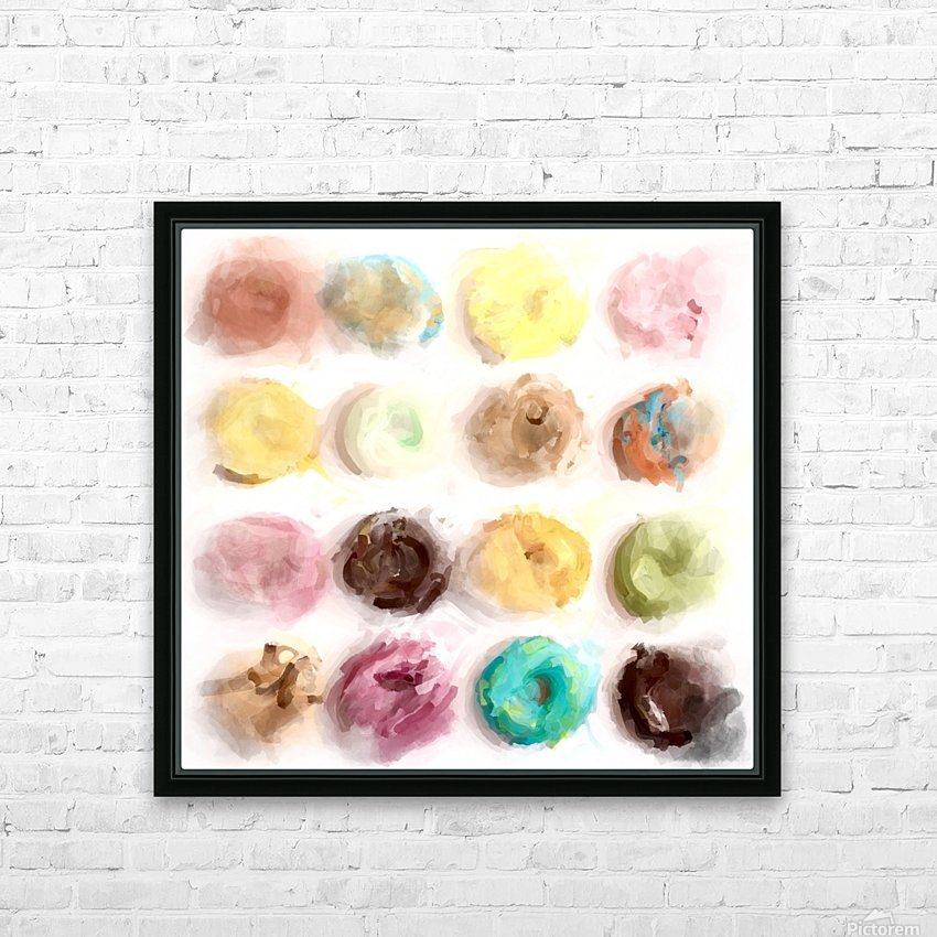Donut Painting No2 HD Sublimation Metal print with Decorating Float Frame (BOX)