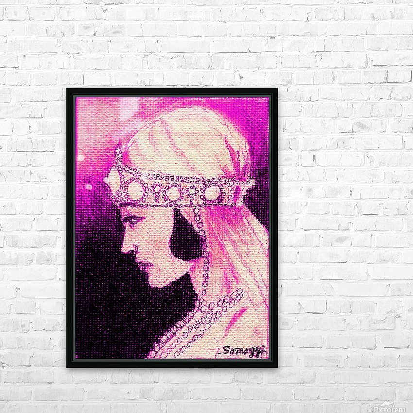 1920's Bride -- in Purple HD Sublimation Metal print with Decorating Float Frame (BOX)