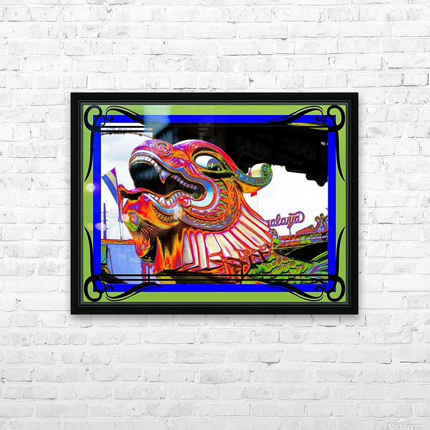 Carnival Creature in Bright Colors HD Sublimation Metal print with Decorating Float Frame (BOX)