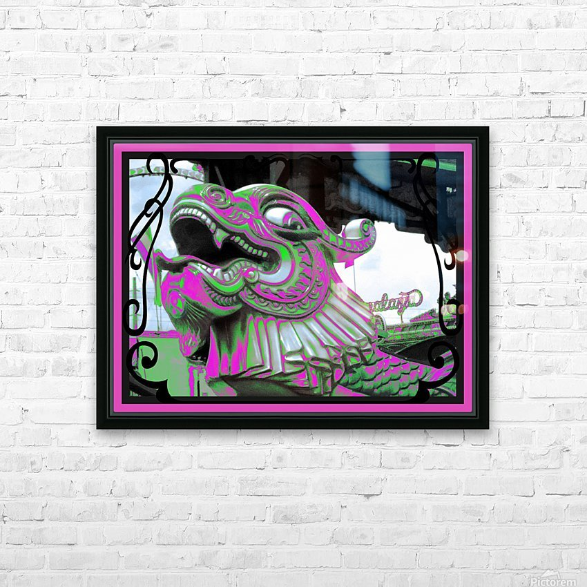 Carnival Creature in Purple & Green HD Sublimation Metal print with Decorating Float Frame (BOX)