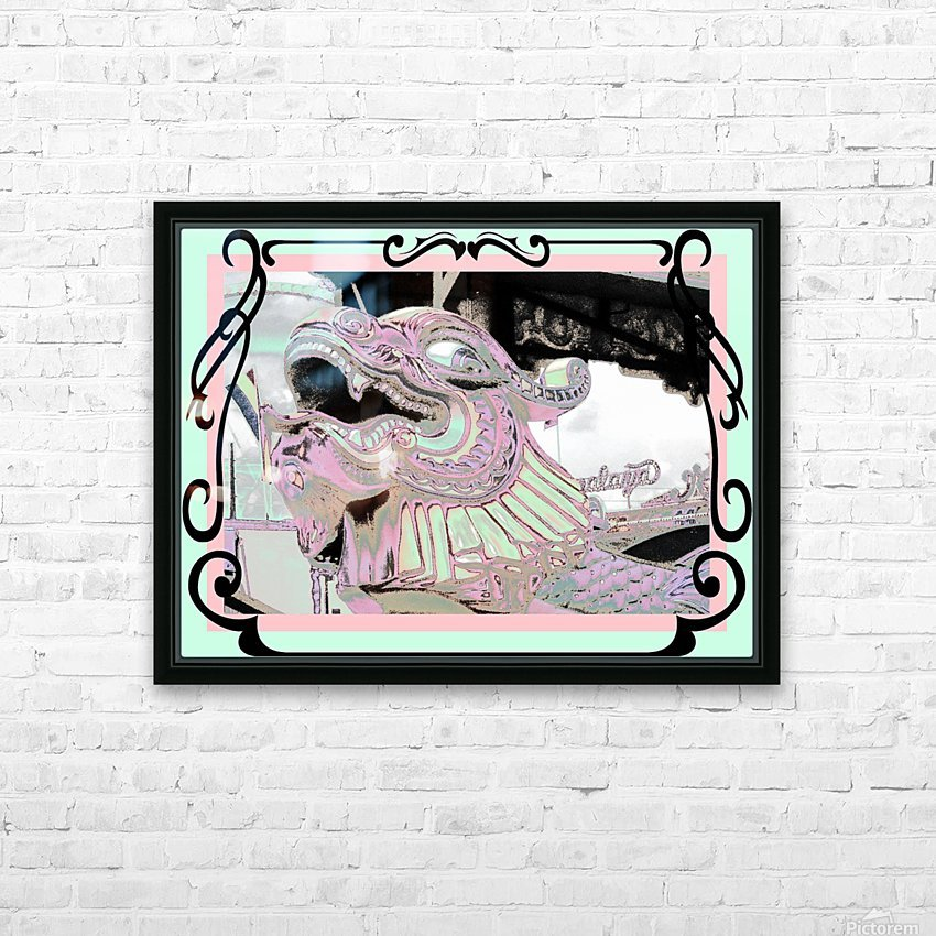 Carnival Creature in Pastels HD Sublimation Metal print with Decorating Float Frame (BOX)